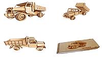 Деревянный 3D-пазл РЕЗАНОК Грузовой автомобиль 73 элемента