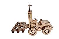 Деревянный 3D-пазл РЕЗАНОК Погрузчик 108 элементов