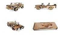 Деревянный 3D-пазл РЕЗАНОК Джип 113 элементов