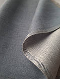Двухсторонний шарф из шерсти и шелка светло серый, фото 2