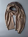 Двухсторонний шарф из шерсти и шелка бронзовый/песок, фото 3