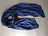 Двухсторонный шарф из шерсти и шелка сине/черный, фото 2