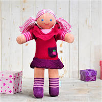 Вязаная кукла ФРЕЯ «Малинка», фото 1