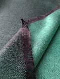 Двухсторонний шарф из шерсти и шелка зелено/черный, фото 2