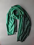 Двухсторонний шарф из шерсти и шелка зелено/черный, фото 4