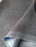 Двухсторонний шарф из шерсти и шелка серо/голубой, фото 2