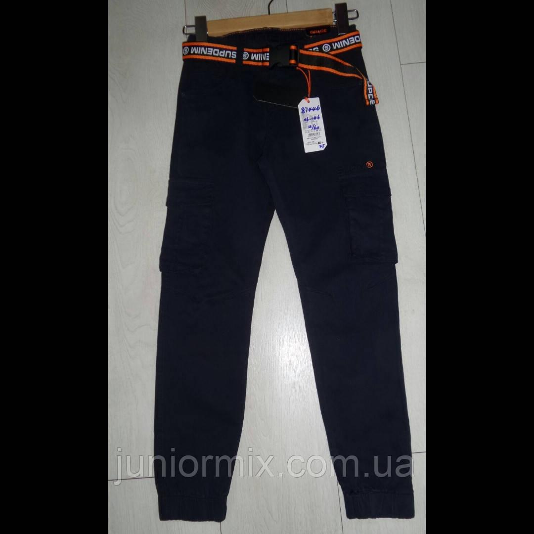 Оптом дитячі котонові штани на манжеті для хлопчика GRACE 116--146см.