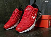 Мужские кроссовки в стиле Nike Air Max 270, красные с черным 42(26,5 см), размеры:42,43