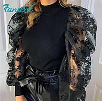 Блуза с объёмными рукавами, фото 1