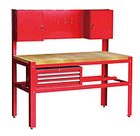 Torin TSG5932. 1500х700х1500 мм. Верстак слесарный рабочий, металлический, для инструментов, гаража, сто, стол