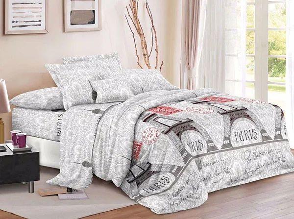 Постільна білизна бязь двоспальний комплект розмір 175х215 см малюнок Париж