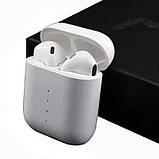 Беспроводные наушники i100 TWS блютус с функцией беспроводной зарядки кейса, фото 2