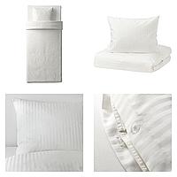Комплект постельного белья IKEA NATTJASMIN 150х200 см Белый