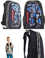 Рюкзак шкільний каркасний 1 Вересня H-12 Steel Force Чорний