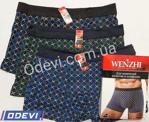Wenzhi труси боксери бавовна тканинна гумка, фото 2