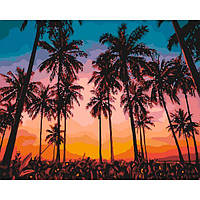 Картины по номерам 40×50 см. Идейка (без коробки) Экзотический вечер (КНО 2257)