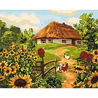 Картины по номерам 40×50 см. Идейка (без коробки) Украинская хатка (КНО 2280)