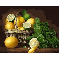 Картины по номерам 40×50 см. Идейка (без коробки) Лимонное настроение (КНО 5589)