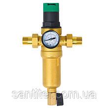 """Фильтр самопромывной SD Forte 1/2"""" с редуктором для горячей воды"""