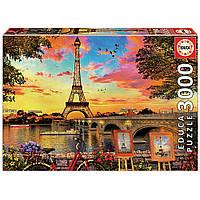 """Пазл """"Захід сонця в Парижі"""", 3000 елементів Educa (8412668176751)"""