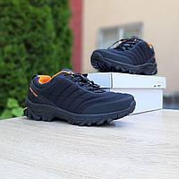 Мужские зимние кроссовки на термопрокладке Merrell Vibram, черные с оранжевым 41 (25,5 см)