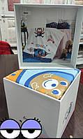 Комплект постельного белья в кроватку, для новорожденных, BELIZZA space, Турция