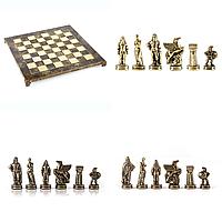 Шахматы Manopoulos Спартанский воин латунь в деревянном футляр 28х28 см Коричневый