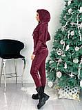 Костюм женский спортивный тёплый чёрный, бордовый 42-44,46-48, фото 4