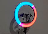 Кольцевая лампа 45 см RGB со штативом 2м для телефона, цветная лампа , кольцевой светодиодное led, фото 5