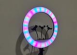 Кольцевая лампа 45 см RGB со штативом 2м для телефона, цветная лампа , кольцевой светодиодное led, фото 7