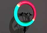 Кольцевая лампа 45 см RGB со штативом 2м для телефона, цветная лампа , кольцевой светодиодное led, фото 4