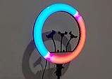Кольцевая лампа 45 см RGB со штативом 2м для телефона, цветная лампа , кольцевой светодиодное led, фото 9