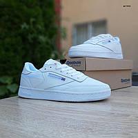 Мужские кроссовки в стиле Reebok Рибок Classic Club C, кожа, белые, 41 (26 см), ОД - 10252