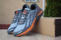 Мужские кроссовки в стиле Merrell Меррелл Bare Access Flex, серые с помаранчевым 41 (25,5 см), ОД - 1771