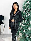Костюм пижама женский с повязкой велюровый графит, пудра, бежевый, чёрный 42-44,46-48, фото 6