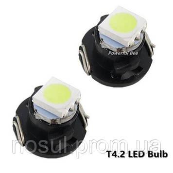 T4.2 Led Canbus (3030 SMD) светодиодная лампа автомобильная (цвет СИНИЙ) светодиод панель приборов подсветка