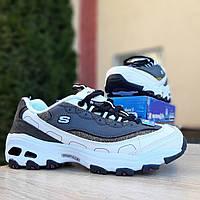 Женские кроссовки в стиле Skechers D'Lites, кожа, разноцветные 36(23 см), размеры:36,38,39,41
