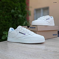 Мужские кроссовки в стиле Reebok Рибок Classic Club C, кожа, молочные, 41 (26 см), ОД - 10253