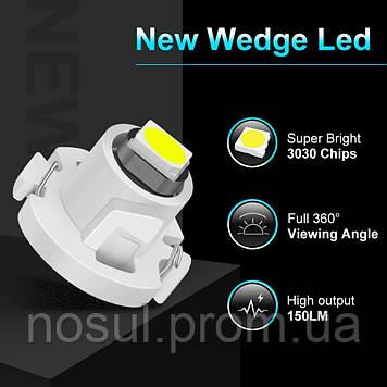 T4.2 Led Canbus (3030 SMD) светодиодная лампа автомобильная (цвет БЕЛЫЙ) светодиод панель приборов подсветка