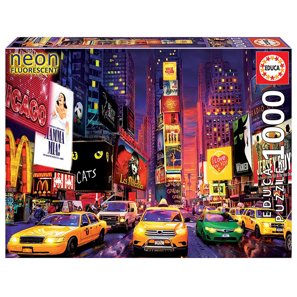 """Неоновий пазл """"Таймс-сквер"""", 1000 елементів Educa (8412668184992)"""