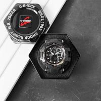 Часы наручные черные Casio G-Shock GW-A1100 All Black New / касио джишок черные с белым