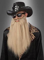 Пышная борода блондин для рокеров и байкеров