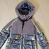 """Зимняя куртка для девочки """"Кира"""" с меховой отделкой, дымчатый, фото 5"""