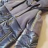 """Зимняя куртка для девочки """"Кира"""" с меховой отделкой, дымчатый, фото 4"""