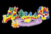 """Конструктор с большими блоками для самых маленьких """"Мастер Блок"""" №9 1-031 115 деталей"""