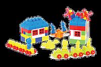 """Конструктор с большими блоками для самых маленьких """"Мастер Блок"""" №7 1-029 105 деталей"""