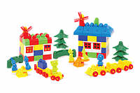 """Конструктор с большими блоками для самых маленьких """"Мастер Блок"""" №11 1-056 121 деталь"""