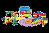 """Конструктор с большими блоками для самых маленьких """"Мастер Блок"""" №10 1-032 135 деталей"""