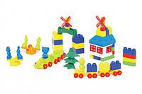 """Конструктор с большими блоками для самых маленьких """"Мастер Блок"""" №5 Colorplast, 93 детали, 1-027"""