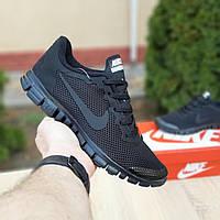 Мужские кроссовки в стиле Nike Найк Free Run 3.0, черные 41 (26 см), ОД - 10053